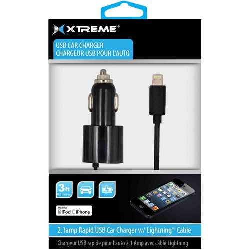 52810 MFI 8 Pin 3ft Single Port Car USB Charger