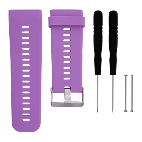 General Brand Silicone Band Strap + Tools for Garmin Vivoactive HR Sport Watch (Purple)