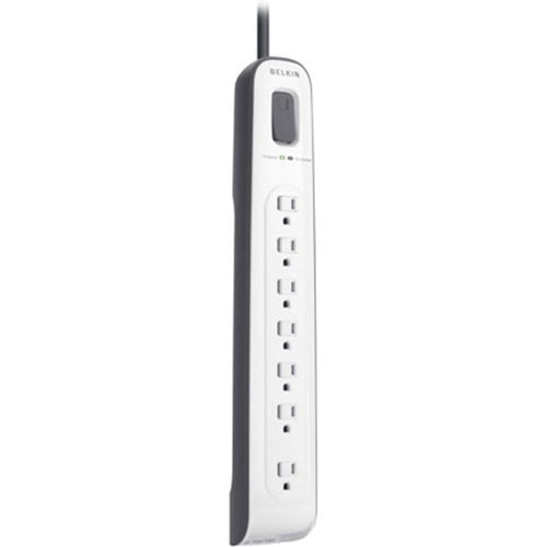 Belkin 7-Outlet Surge Protector with 12' Cord and Telephone Protection - BV107200-12