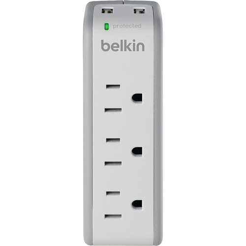 Belkin 3-Outlet Mini Surge with Dual USB Charger - BZ103050TVL
