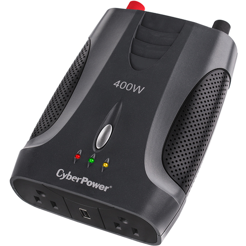 CyberPower 400W Power Inverter with USB Charging Port and 2 AC Outlet - CPS400AI
