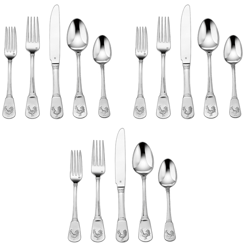 Cuisinart 3-Pack of 20-Piece Elite Flatware Set, French