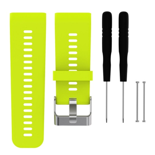 General Brand Silicone Band Strap + Tools for Garmin Vivoactive HR Sport Watch (Lime)