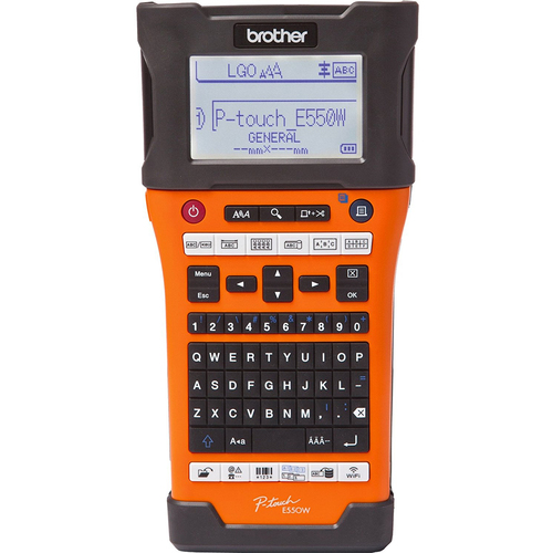 Brother Industrial Wireless Handheld Labeling Tool w/ Auto Strip Cutter - PT-E550W
