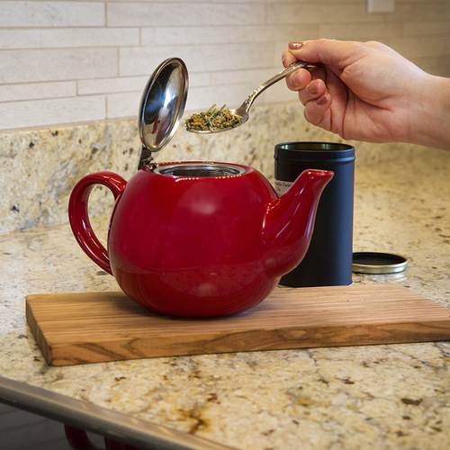 Epoca Ceramic Teapot w Infuser Red