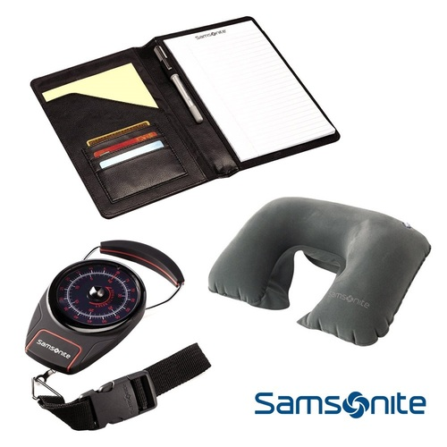 Samsonite Deluxe Travel Kit w/Portable Luggage Scale, Neck Pillow
