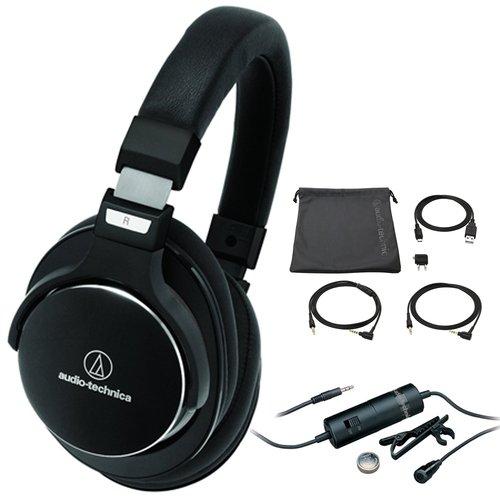 Audio-Technica SonicPro High-Res. Headphones with Active Noise Cancellation with Microphone