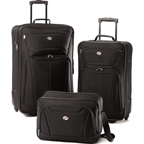 American Tourister Fieldbrook II Three-Piece Luggage Set (Black) - OPEN BOX