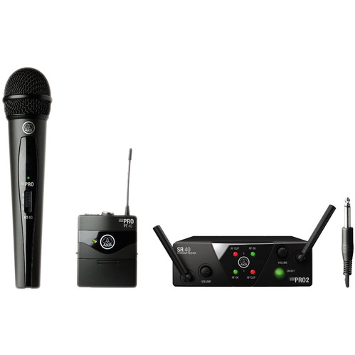 AKG WMS40 Mini Dual Vocal Handheld/Instrument Wireless Microphone System