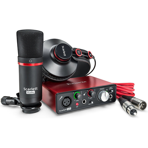 Focusrite Scarlett Solo Studio USB Audio Interface/Recording Set 2nd Generation - OPEN BOX