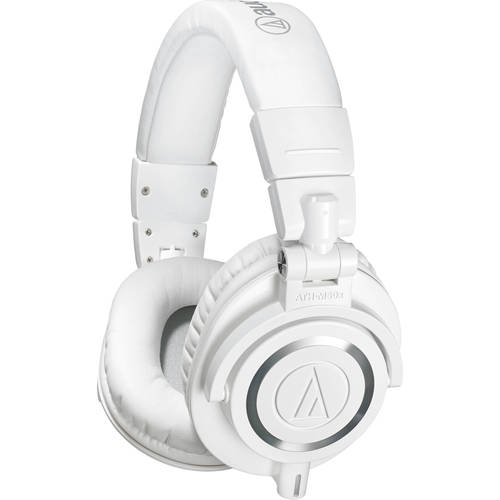 Audio-Technica ATH-M50X Professional Studio Headphones (WHITE)(Certified Refurbished)