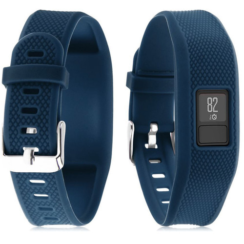 Silicone Replacement Wrist Band Strap For Garmin Vivofit 3 - Navy Blue
