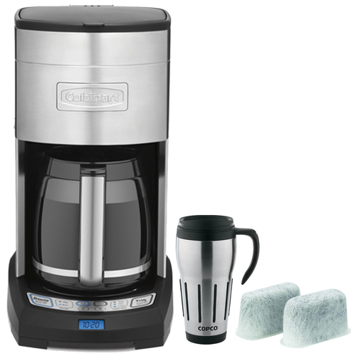 Cuisinart Extreme Brew 12-Cup Coffee Maker, Silver - Refurbished with Travel Mug