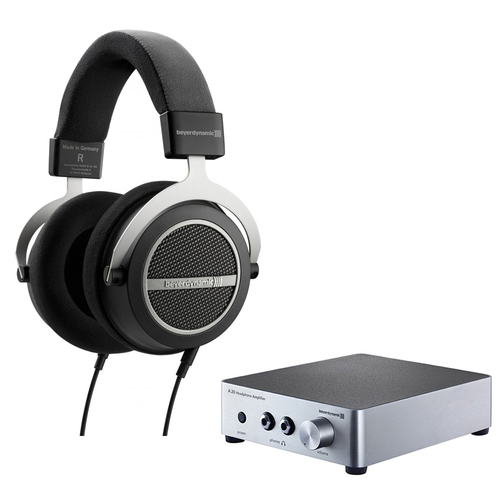 BeyerDynamic Amiron Home Tesla High-End Headphones 250 OHM w/Headphone Amplifier