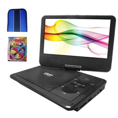 Sylvania 9` Swivel Screen Portable DVD Player w/ 5Hr Battery - Essentials Bundle