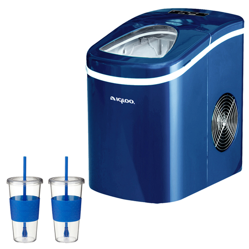 Igloo Compact Ice Maker (Blue) With 2x Eco First Togo Cup Mug