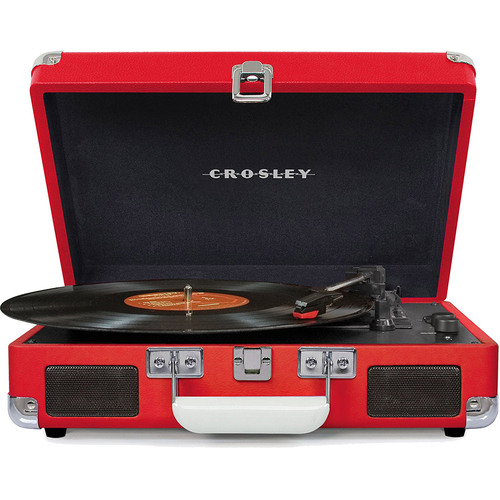 Crosley Cruiser Portable 3-Speed Turntable with Bluetooth - CR8005D-RE (Red)