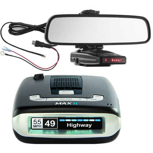 Escort Max II HD Radar Detector w/ Mount & Power Cord Bundle