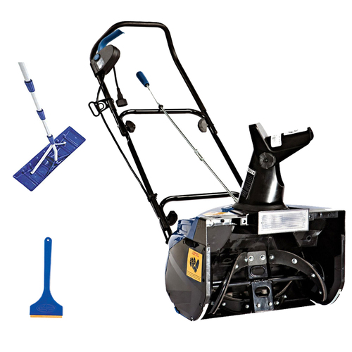 Snow Joe Ultra 18-in Snow Thrower w/ light Snow Buster Bundle With Roof Rake And Shovel