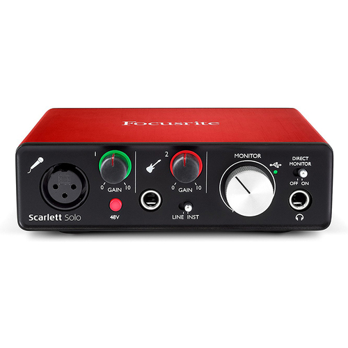 Focusrite Scarlett Solo USB Audio Interface (2nd Generation) w/Pro Tools - OPEN BOX