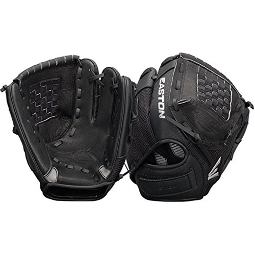 Easton ZFX900BKBK - Z-Flex Left Hand Throw 9` Youth Ball Glove in Black - A130628LHT