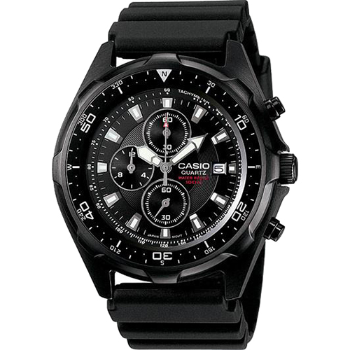 Casio Water Resistant Analog Watch with Rotation Bezel