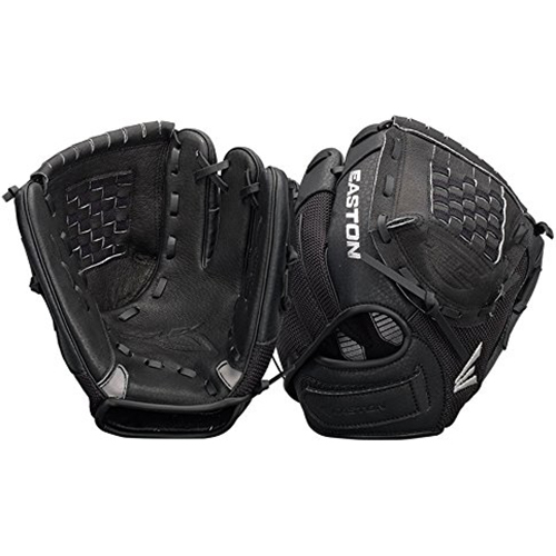 "ZFX1000BKBK - Z-Flex Right Hand Throw 10"" Youth Ball Glove in Black - A130629"