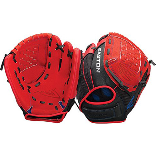 Easton ZFX1100RDRY - Z-Flex Left Hand Throw 11` Youth Ball Glove in Red - A130637LHT