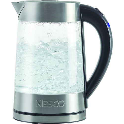 Nesco 1.8 Quart Electric Glass Water Kettle in Gray - GWK-02