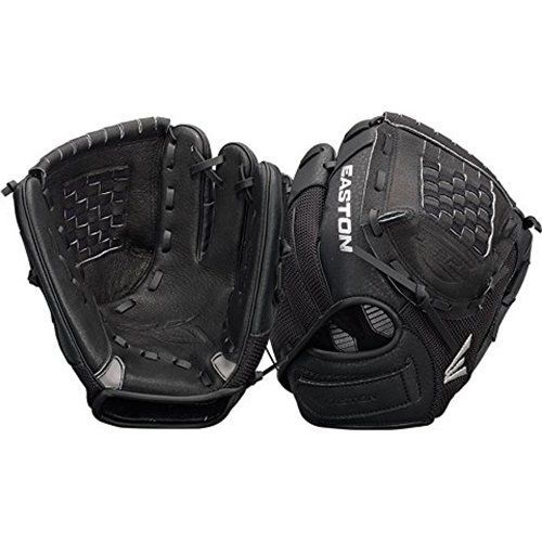 Easton ZFX1050BKBK - Z-Flex Right Hand Throw 10.5` Youth Ball Glove in Black - A130630
