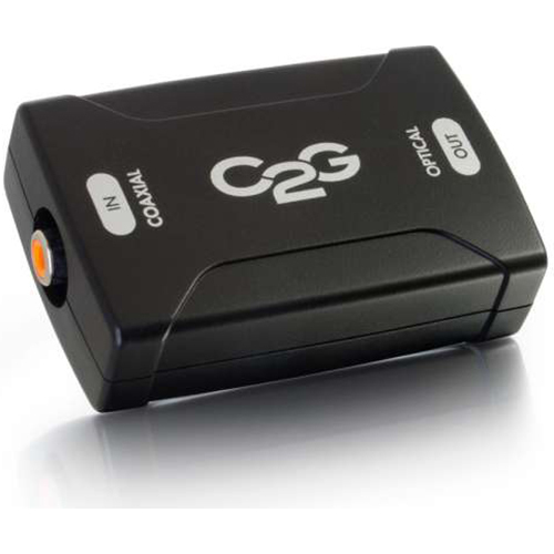 C2G Coaxial to Optical Digital Audio Converter - 40018