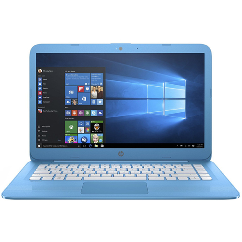 Hewlett Packard Stream 14-ax010nr 14.0` Aqua Laptop - Intel Celeron N3060 Processor - OPEN BOX