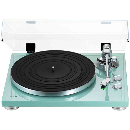 Teac TN-300 2-Speed Analog Turntable - Turquoise - OPEN BOX