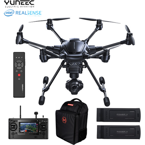 Yuneec TYPHOON H RTF Drone w/ Intel RealSense , Backpack, 2 Batteries/Wand - OPEN BOX