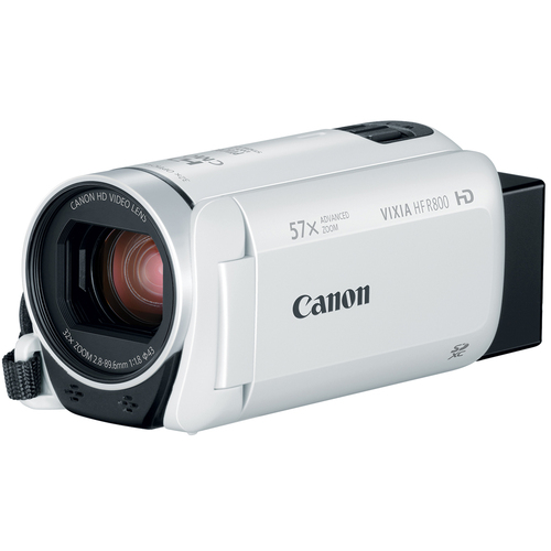 Canon VIXIA HF R800 Camcorder w/ 57x Advanced Zoom, 3.28MP - White