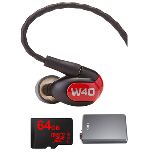 Westone W40 Quad Driver Premium In-Ear Monitor Headphones - 78504 w/ FiiO A5 Amp Bundle