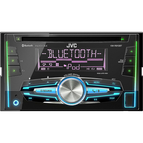 JVC KWR910BT Double-DIN Bluetooth CD/USB Receiver - ***AS IS***