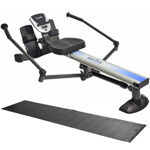 Stamina BodyTrac Glider Rowing Machine (35-1060) with Fold-To-Fit Equipment Mat