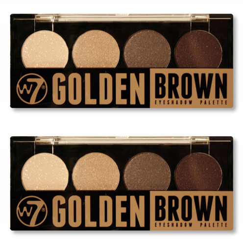 W7 Quad-Eyeshadow Palette Golden Brown - 2 Pack