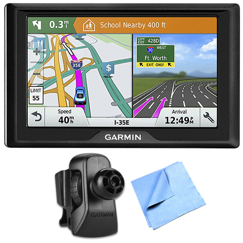 Garmin Drive 61 LM GPS Navigator with Driver Alerts USA w/ Air Vent Mount Bundle