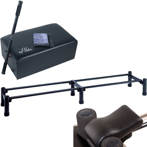 Stamina AeroPilates Box + Pole Bundle w/ 3 Cord Reformer Stand, Pillow 05-0025