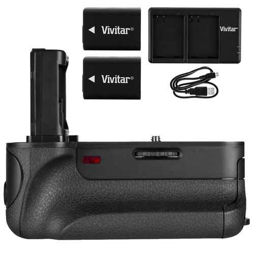 Vivitar PG-A7II Battery Grip for Sony A7R II, A7 II, A7S II w/ Accessories Bundle