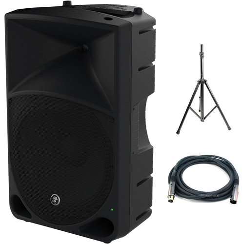 Mackie Thump Series 15-Inch Powered Loudspeaker Thump15 with Stand Bundle