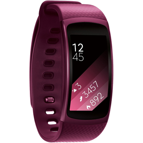 Samsung SM-R3600ZIAXAR Gear Fit2 Smartwatch with Large Band - Pink - OPEN BOX