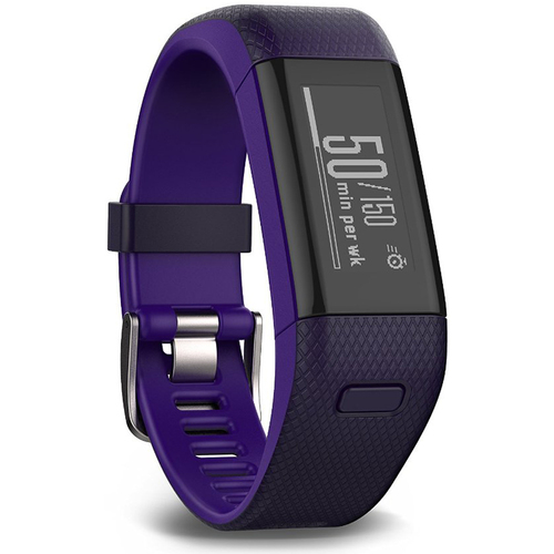 Garmin Vivosmart HR+ Activity Tracker Regular Fit, Purple - Refurb 1 Year Warranty