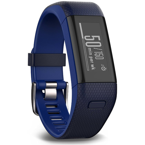 Garmin Vivosmart HR+ Activity Tracker Regular Fit, Midnight Blue Refurb 1 Year Warranty