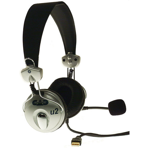 CAD Audio USB Stereo Headphones with Cardioid Condenser Microphone, 6' USB Cable