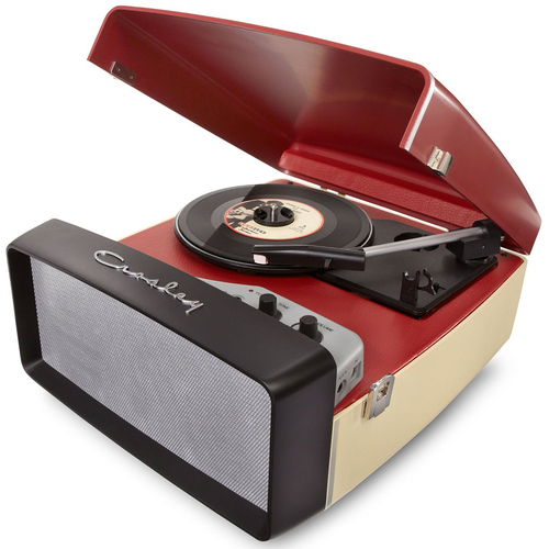 Crosley Collegiate Portable USB Turntable w/Built-In Speakers CR6010A-RE(Red) - OPEN BOX