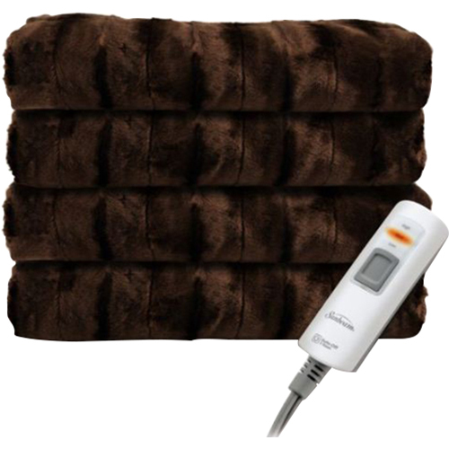 Sunbeam Faux Fur Heated Throw - TSP8US-R470-33A00