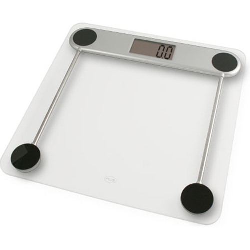 American Weigh Scales Low Profile Glass Top Digital Bathroom Scale - 330LPG